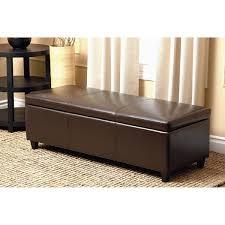 dark brown storage ottoman abbyson frankfurt dark brown leather wood storage ottoman free