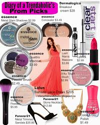 diary of a trendaholic prom makeup fashion and accessories
