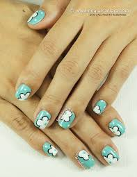 nail art flowers on the side simply rins