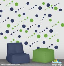 new products decal rocket online store custom decal stickers to lime green and navy blue circle polka dot wall decal stickers