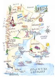 Latam Map Cartoon Style Illustrated Map Illustrated Maps Pinterest