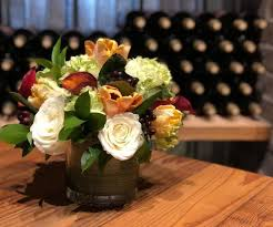 flowers wine wine with flowers s table