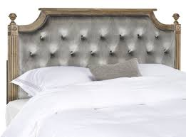 rustic wood grey tufted velvet headboard headboards furniture by