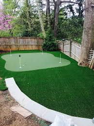 Backyard Putting Green Installation by Artificial Turf Frederick Maryland Backyard Putting Greens