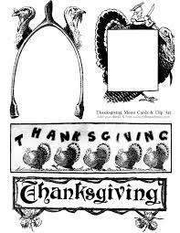 thanksgiving vintage clip clipartxtras
