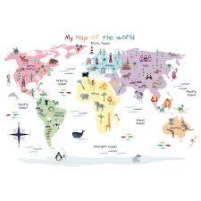 map of the world wall stickers jojo maman bebe map of the world wall stickers
