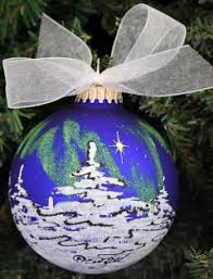 alaska hand painted ornaments