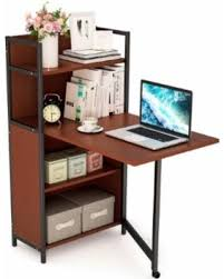 L Shaped Writing Desk Sale Tribesigns Folding Computer Desk With Bookshelves L