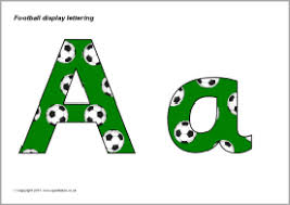 themed letters football themed display lettering sb9608 sparklebox