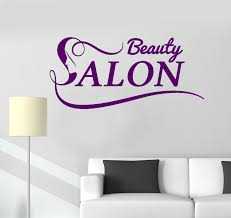 vinyl wall decal beauty salon logo woman spa stickers mural