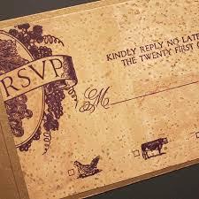 wedding invitations cork sonoma letterpress by plum blossom press