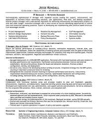 Resume Sample With Summary by It Manager Resume Consist Of Objective Or Summary Skills And Also