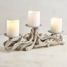 driftwood centerpieces gray driftwood centerpiece candle holder pier 1 imports