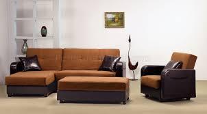 Modern Sectional Sleeper Sofa Two Tone Tan U0026 Rich Brown Contemporary Sectional Sleeper Sofa