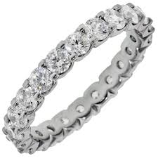 eternity wedding bands just diamond eternity wedding band in 14kt white gold 2ct tw