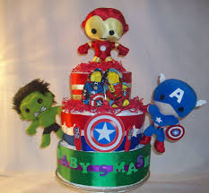 the avengers diaper cake superhero cakescupcakescookies