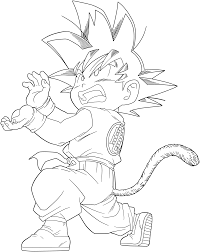 dragon ball kid goku 34 lineart superjmanplay2 deviantart