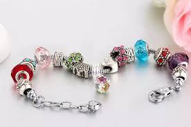 european pandora bracelet images Silver snake charm bracelet european murano glass crystal beads 20cm f png