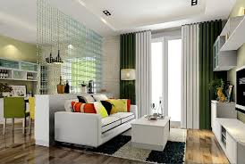 3d green and curtains living room 3d house