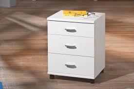caisson bureau blanc laqué caisson de bureau contemporain 3 tiroirs blanc polka caisson de
