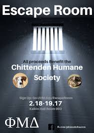 escape room game and humane society benefit uvm bored
