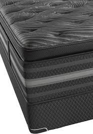 beautyrest black natasha plush pillow top king mattress