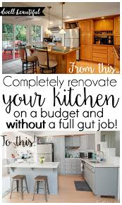 New Kitchen Cabinets On A Budget Diy Budget Kitchen Renovation Our Gorgeous Kitchen Reveal