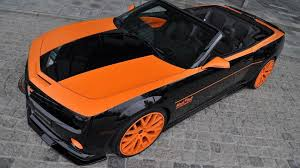 orange sports cars camaro ss convertible done in orange and black by geiger cars