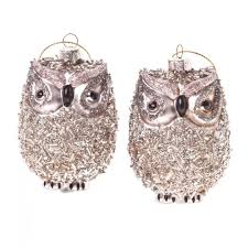heaven sends beaded glass owl christmas decorations heaven sends