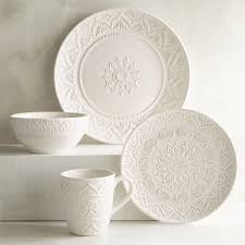 Dining Room Plate Sets by Chateau Clair White Dinnerware Pier 1 Imports