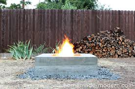 how to light a fire pit homemade modern ep46 concrete fire pit