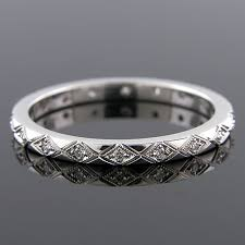 wedding band manufacturers 741 101p antique inspired pave set diamond carved eternity wedding
