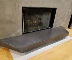 gfrc floating concrete hearth for concrete u0026 wood fireplace 7