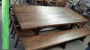 farm table and bench pricing