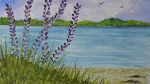 project learn to paint this lupine watercolor painting udemy