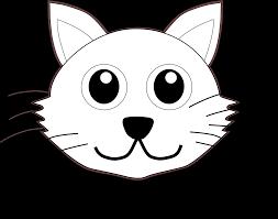cat 1 face black white line art christmas xmas stuffed animal