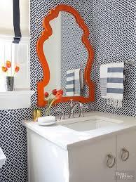 Designer Mirrors For Bathrooms Colors Best 25 Orange Bathroom Paint Ideas On Pinterest Diy Orange