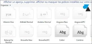 windows 8 installer une nouvelle de caractères