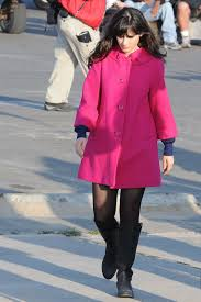 zooey deschanel new girl fashion wwzdw what would zooey deschanel s pink coat on new girl wwzdw what would zooey