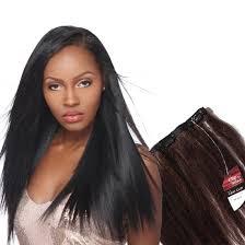 Yaki Clip In Human Hair Extensions by Amazon Com Sensationnel 100 Human Hair Clip In Weave Yaki 14