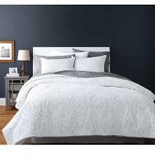 Walmart Duvet Covers Canada Hometrends Rose White Quilt Set Walmart Canada