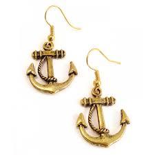 anchor earrings ahoy sailor nautical anchor earrings