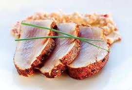 cuisiner du thon thon albacore en croûte d épices mayo andalouse de fleur