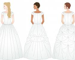 Wedding Dress Bustle 3 Different Examples Of Ways To Bustle A Wedding Dress Http Www