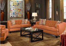 Orange Living Room Set Picture Of Chicago Clay 5pc Classic Living Room From Living Room