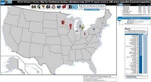 Map Ohio State by Ncaa Division I Hockey Big Ten Conference Hockey Attendance Map