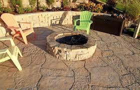 backyard stone fire pit rosetta round firepit