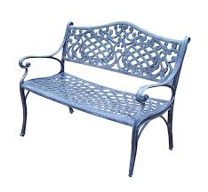 amazon com oakland living mississippi cast aluminum settee bench