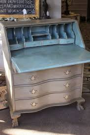 Chalk Paint Desk by Chalk Painted French Linen And Old White Secretary Desk With Large