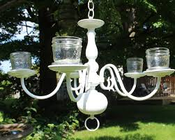 garden chandelier made from a vintage find new house new home